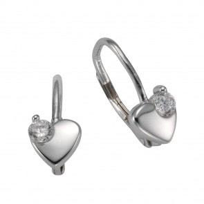 Silber Ohrringe für Kinder mit Zirkonia