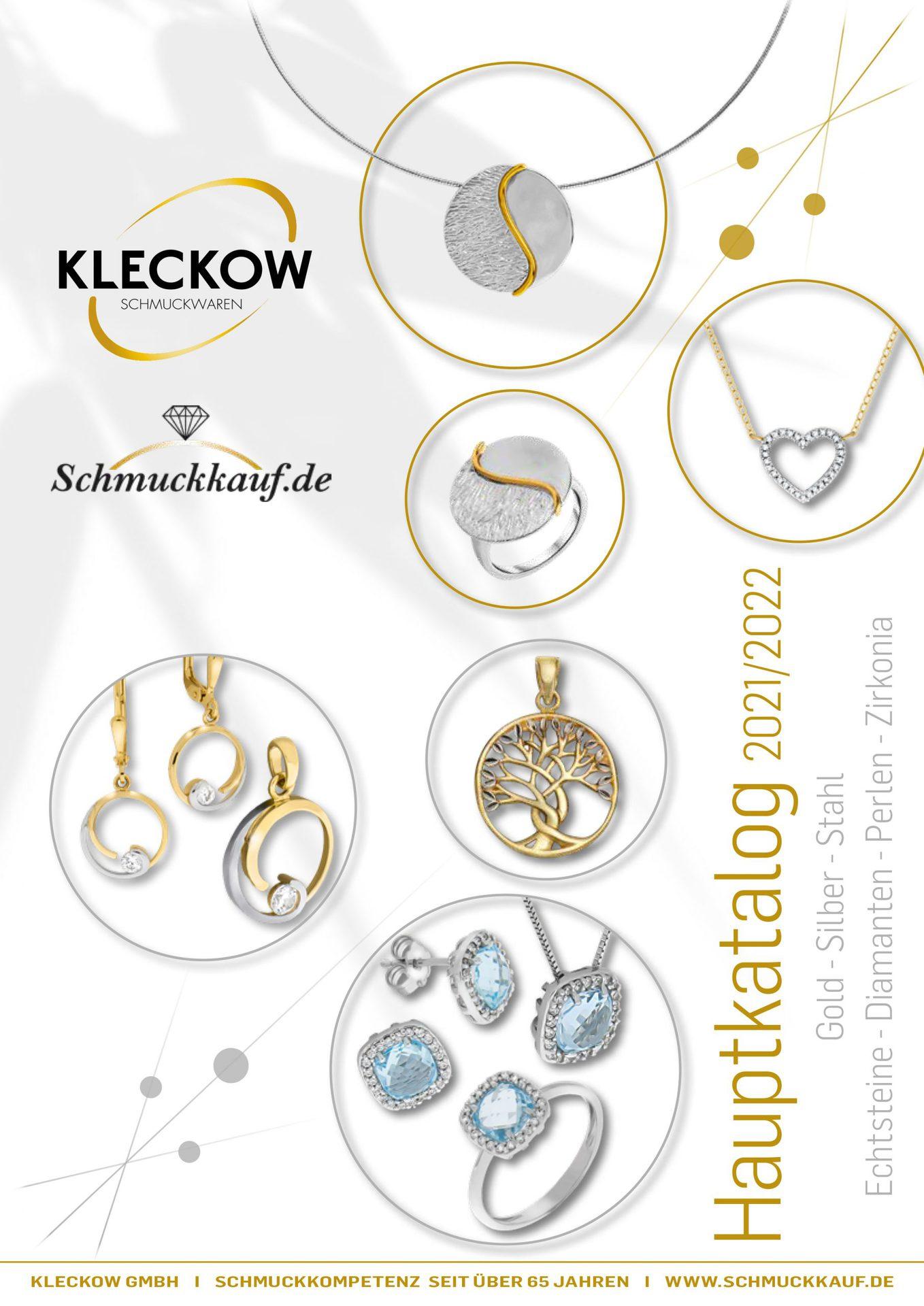 Cover des Kleckow Schmuckkatalog 2021-2022