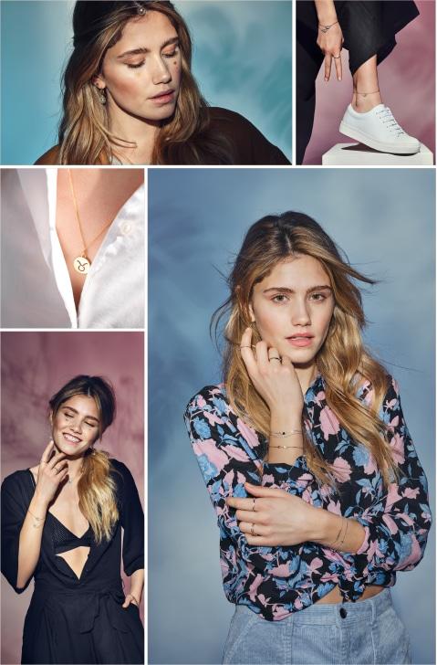 Collage mit Lifestyle Schmuck für junge Frauen
